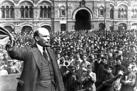 Lenin's speech of March 20, 1920, on the Bolshoi Theater Square in Moscow.